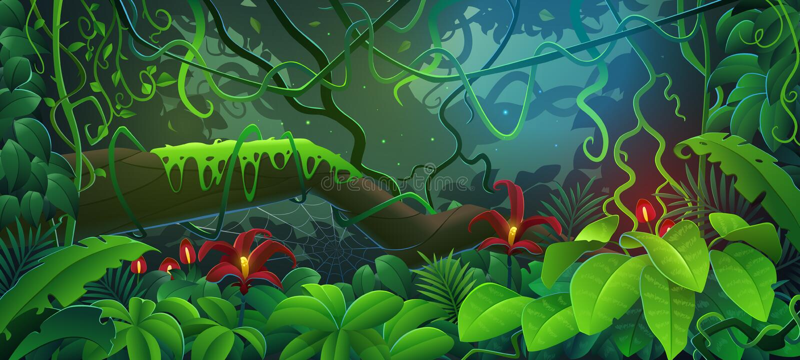 Der Dschungel stock abbildung