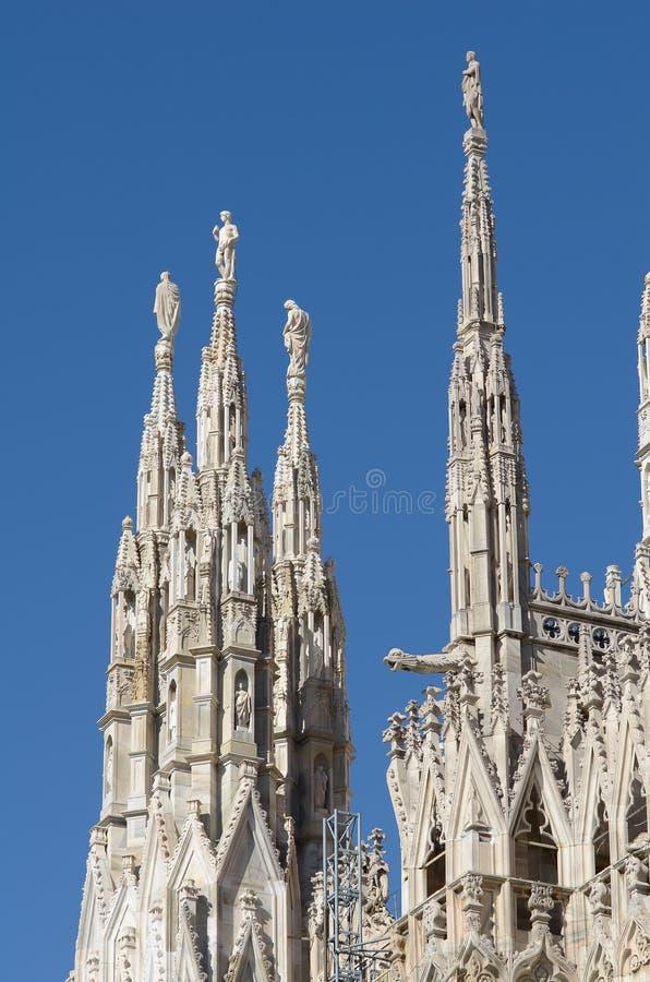 Der Duomo, gotische Kathedrale von Mailand stockfotos