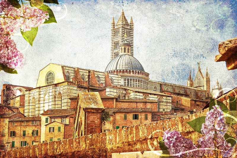 Der Duomo von Siena stock abbildung