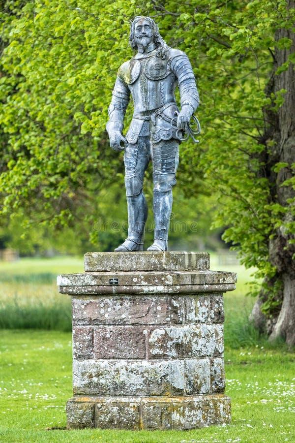 Der Earl von Glamis-Statue stockbilder