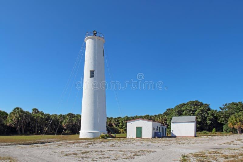 Der Egmont Schlüsselleuchtturm in Tampa Bay, Florida lizenzfreies stockbild