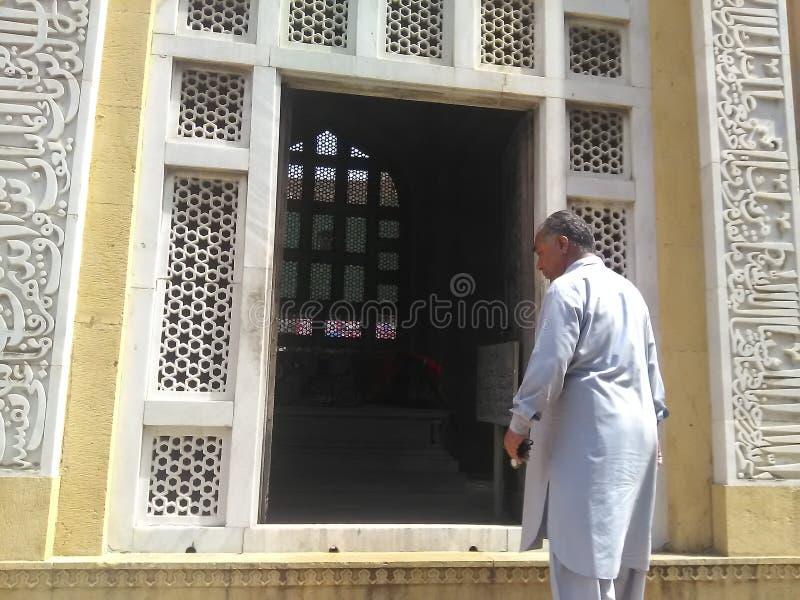 Der Eingang des Grabs Sultan Qutb-ud Lärms Aibak Lahore lizenzfreie stockfotos