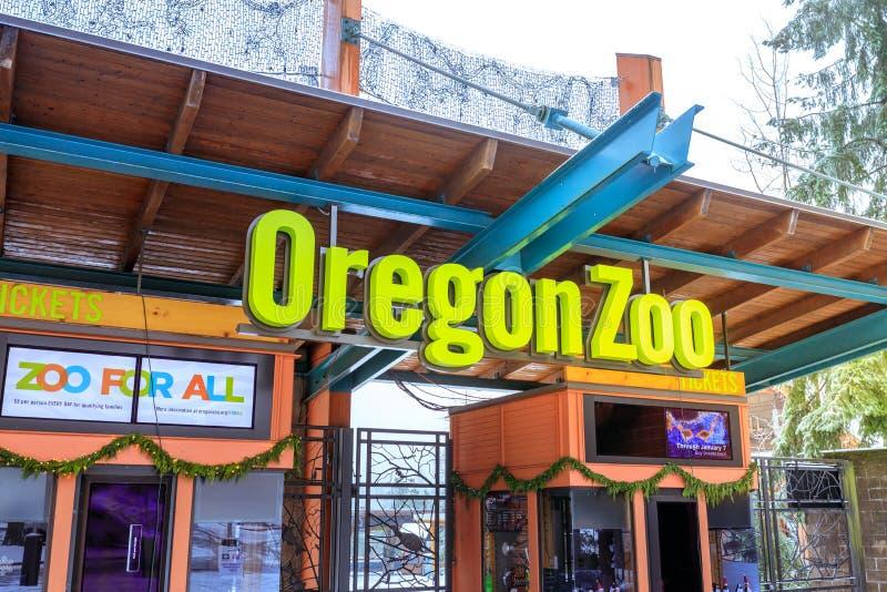 Download Der Eingang Von Oregon-Zoo In Washington Park-Station Am Winter Redaktionelles Stockbild - Bild von weihnachten, szene: 106800789
