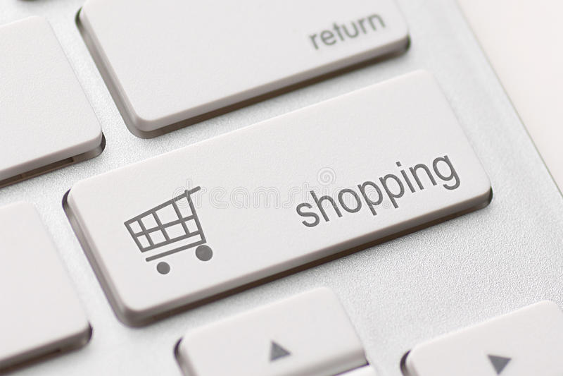 Der Einkauf ENTER-Taste Stockbild
