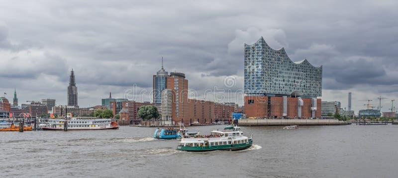 Der Elbphilharmonie-Konzertsaal, Hamburg stockfotografie