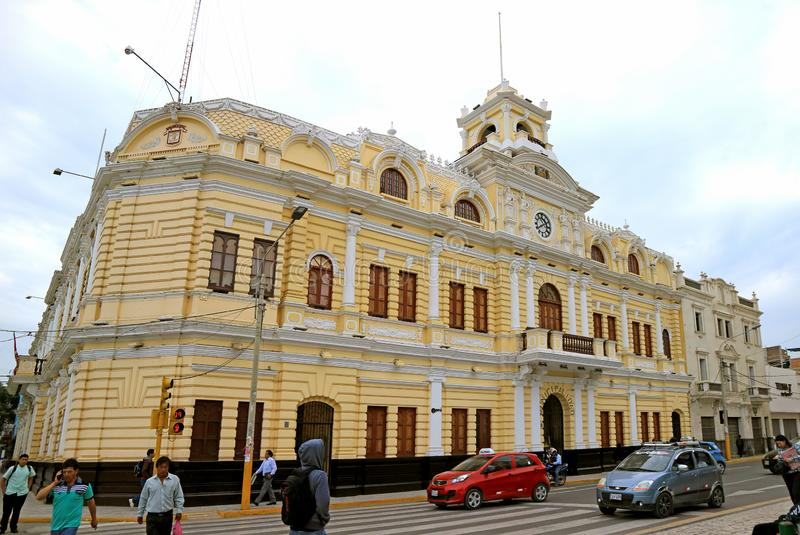 Der elegante städtische Palast von Chiclayo, Lambayeque-Region, Nord-Peru lizenzfreies stockfoto