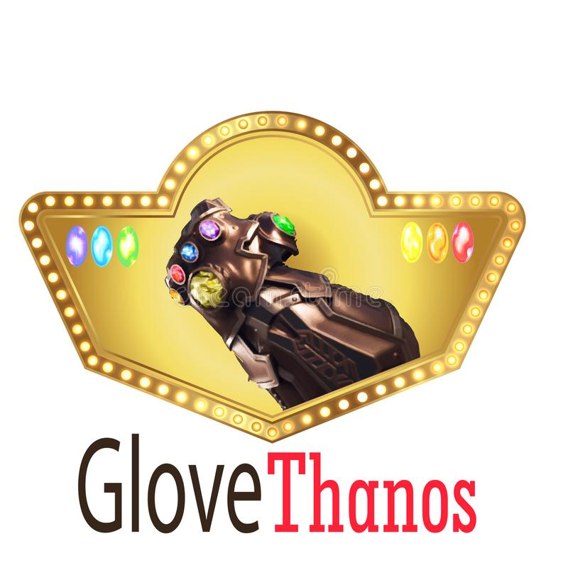 Der elegante Thanus-Handlogovektor lizenzfreie abbildung