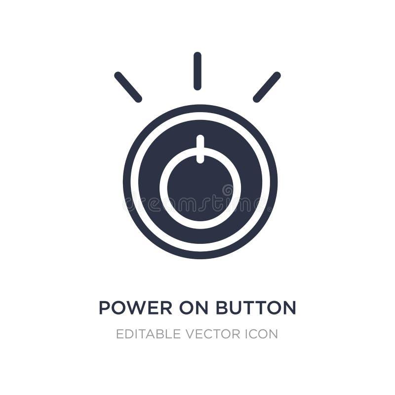 der Energie Knopfikone an auf weißem Hintergrund Einfache Elementillustration vom Multimediakonzept lizenzfreie abbildung