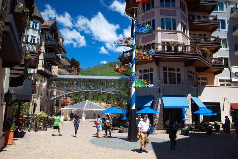 Der enorme Vail Ski Resort, Colorado, USA lizenzfreie stockfotos