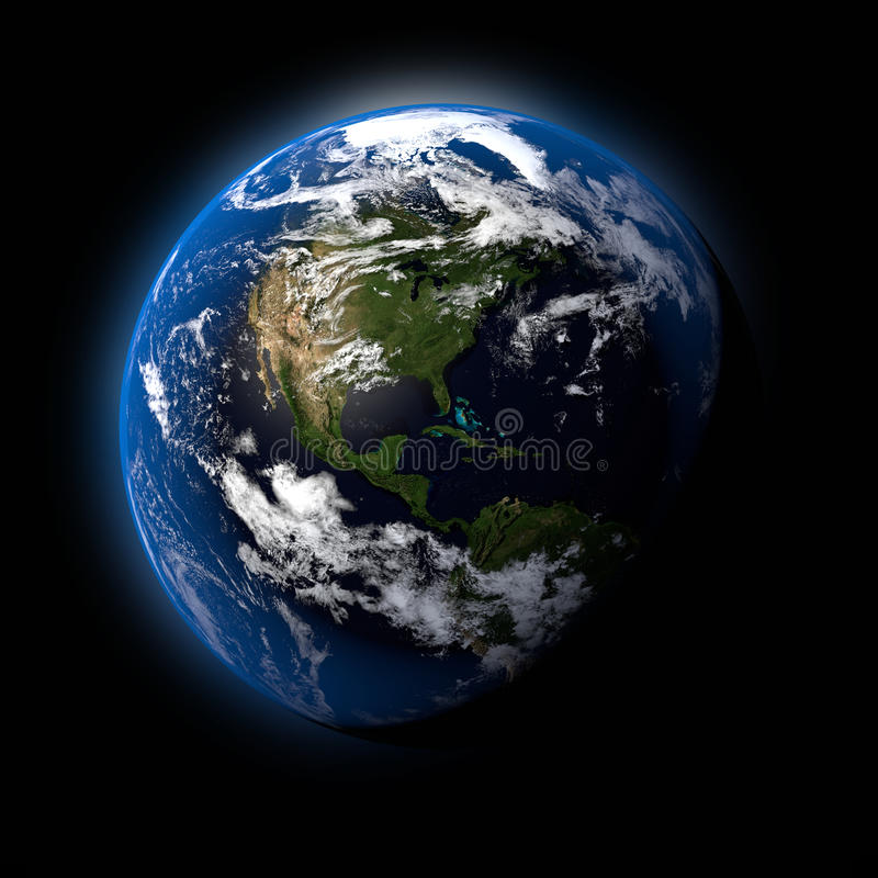 Der Erdplanet stock abbildung