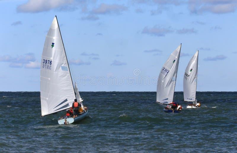 Der Eriesee-Segeln stockfotos