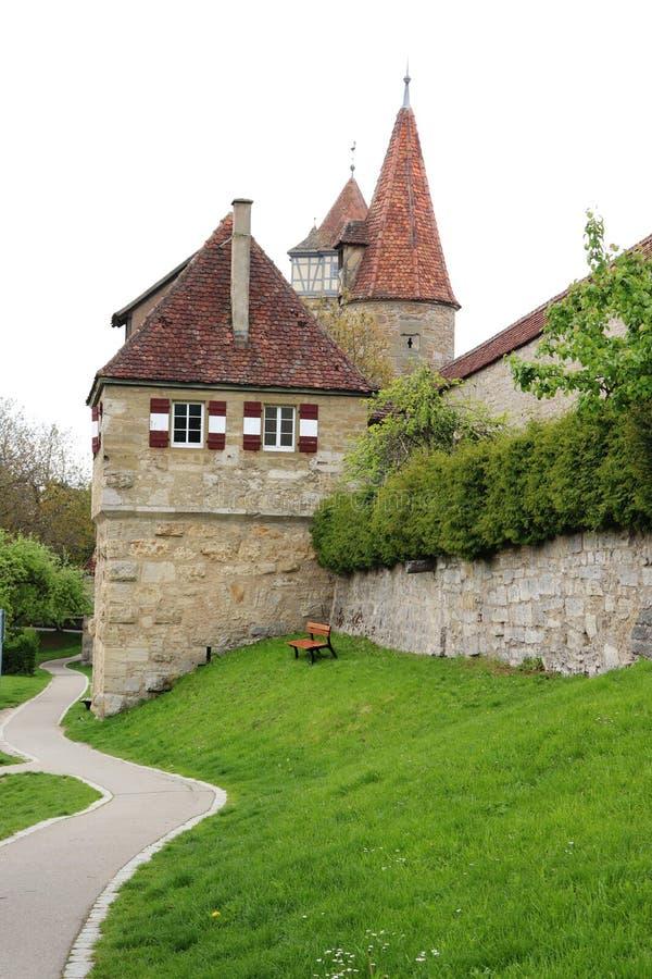 Der esterno Tauber, Germania del ob di Rothenburg immagini stock libere da diritti