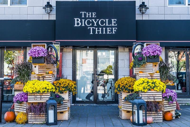Der Fahrrad-Dieb Restaurant in Halifax, Nova Scotia lizenzfreie stockfotos