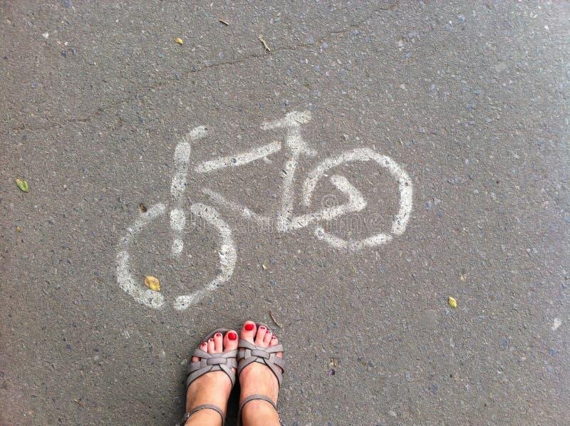 Der Fahrradweg stockbild
