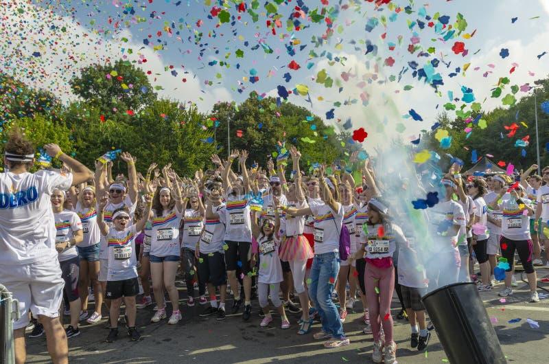 Der Farblauf Bukarest lizenzfreie stockfotografie