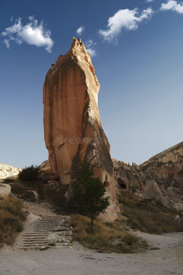 Download Der Felsen bei Cappadocia stockfoto. Bild von aufbau, treppenhaus - 38690