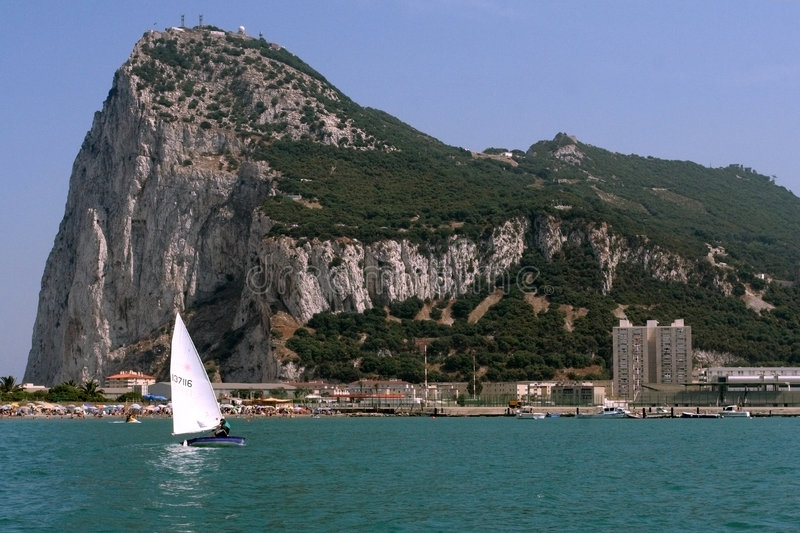 Der Felsen von Gibraltar lizenzfreie stockfotografie