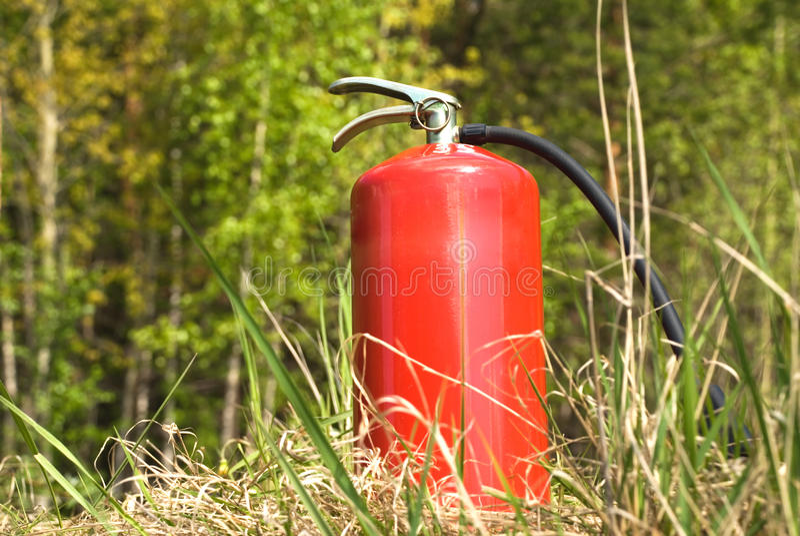 Der Feuerlöscher stockfotos