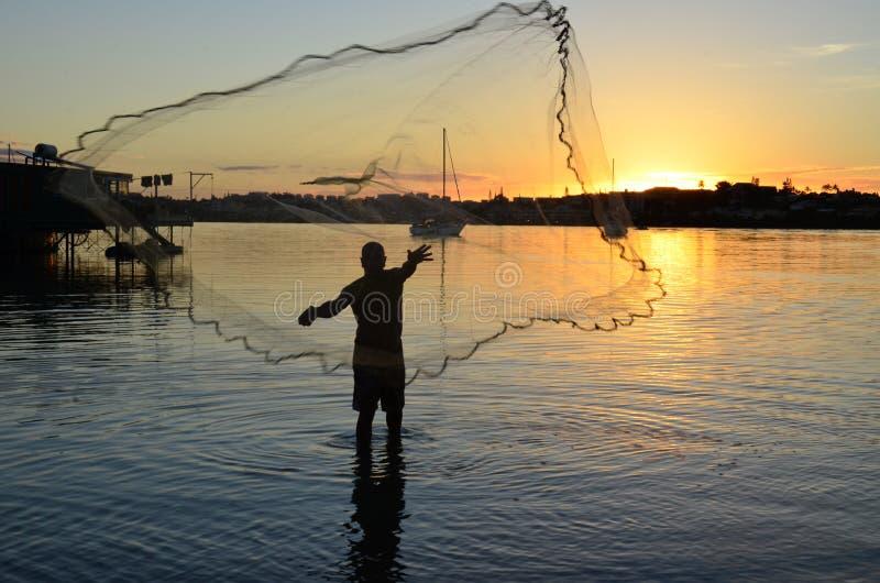 Der Fischer-Mann stockfoto