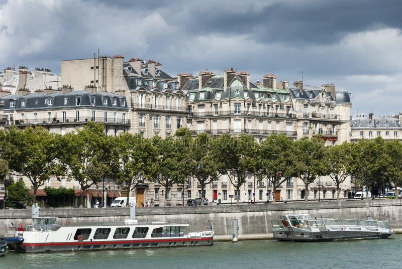 Der Fluss die Seine - Paris - Frankreich stockbild