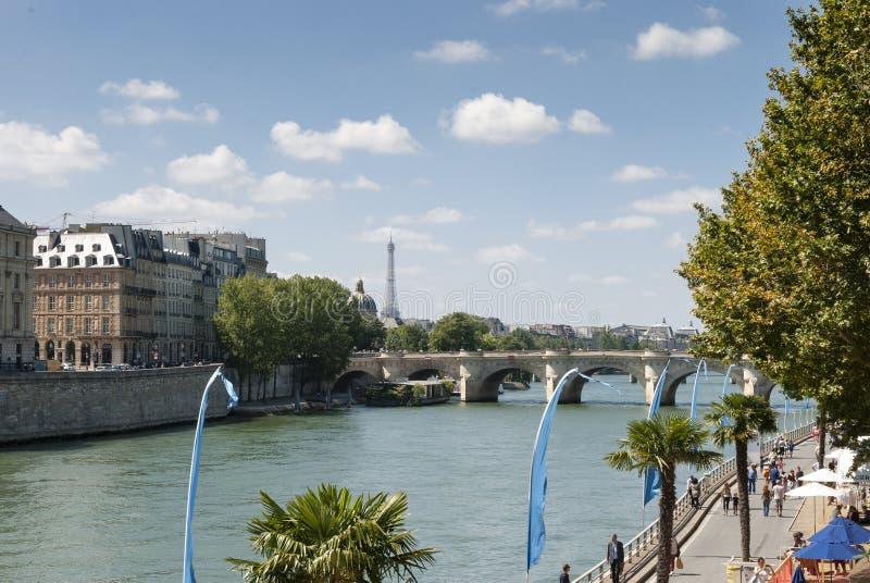 Der Fluss die Seine - Paris - Frankreich lizenzfreies stockfoto