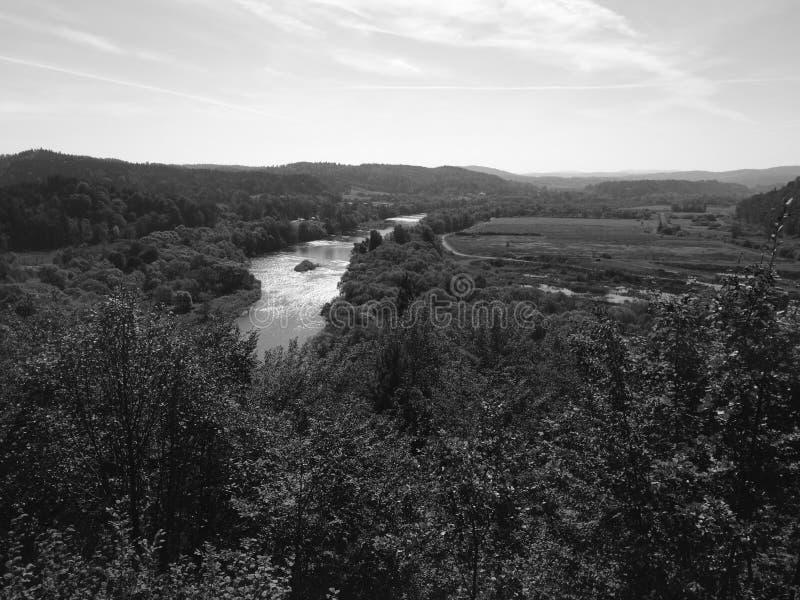 Der Fluss im Berg Künstlerischer Blick in Schwarzweiss lizenzfreie stockfotos