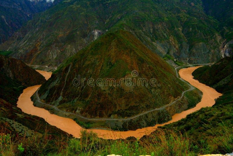 Der Fluss Jinsha Stockfotografie
