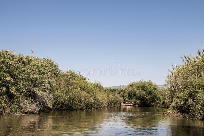 Der Fluss Jordanien stockfotos