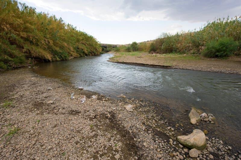Der Fluss Jordanien lizenzfreie stockbilder