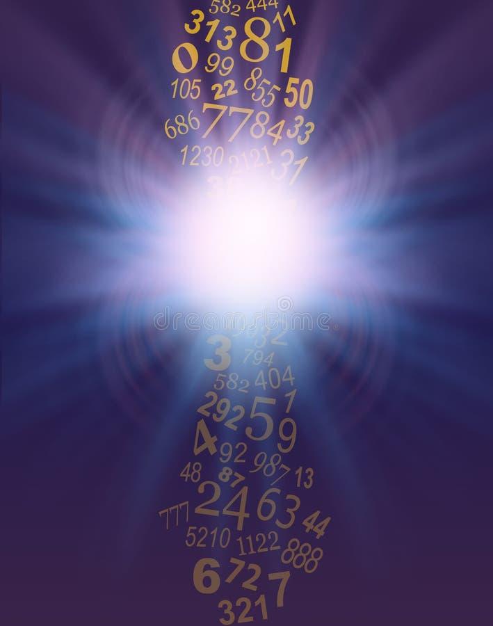 Der Fluss von Zahlen in Ihrem Leben ist konstant stock abbildung