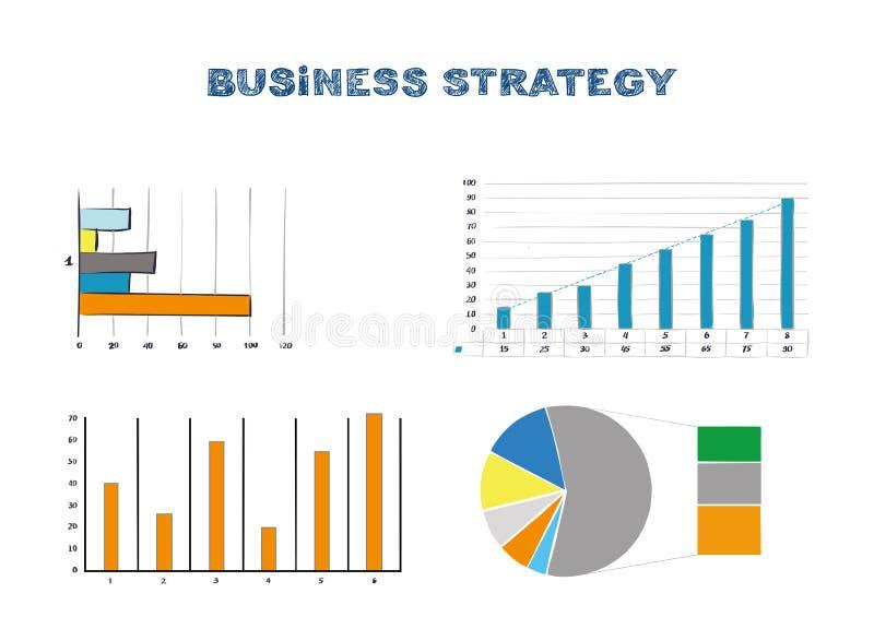 Der Fokus ist nur auf der WortGeschäftsstrategie, im Rot lizenzfreie abbildung