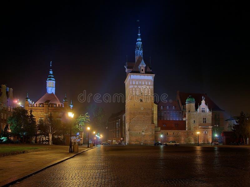 Der Folterung-Haus-und Gefängnis-Kontrollturm in Gdansk. lizenzfreie stockbilder