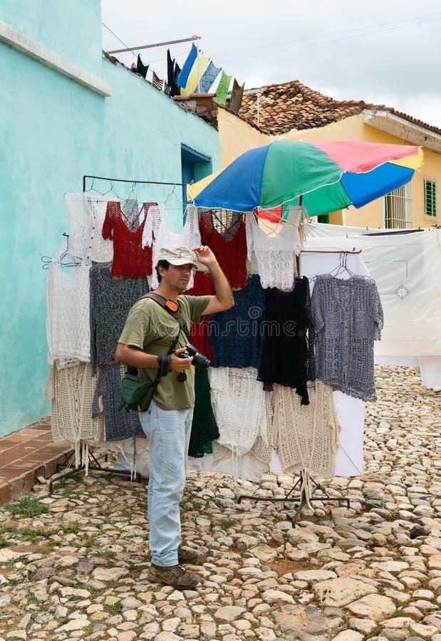 Der Fotograf auf der Straße lizenzfreies stockbild