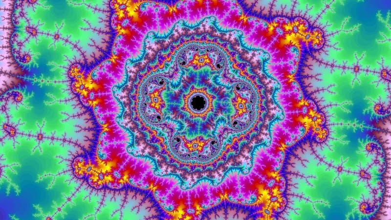 Der Fractal-hohen Auflösung Hintergrund Digital-Universums erstaunliche abstrakte bunte große Größe sehr lizenzfreie abbildung