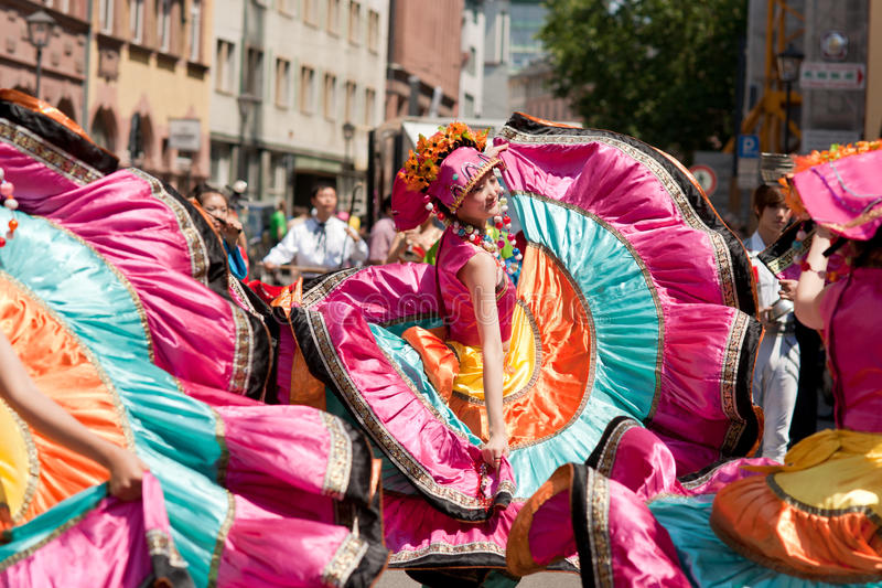 der frankfurt kulturen парад стоковая фотография