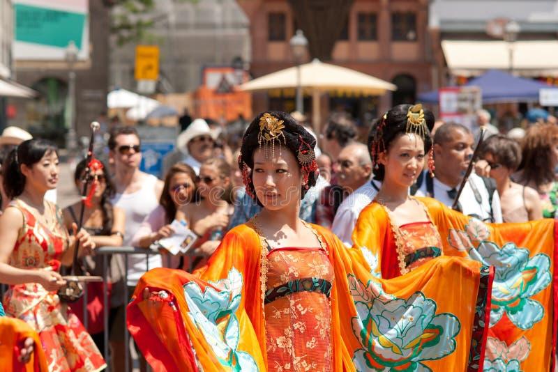 der frankfurt kulturen парад стоковое изображение