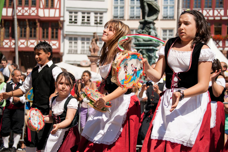 der frankfurt kulturen парад стоковое фото