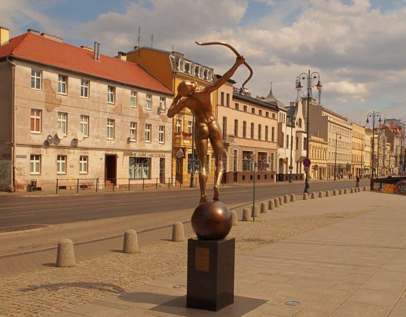 Der Frauenbogenschütze von Bydgoszcz lizenzfreies stockfoto