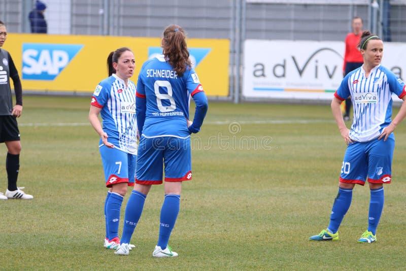 Der Fußball der Frauen stockbild