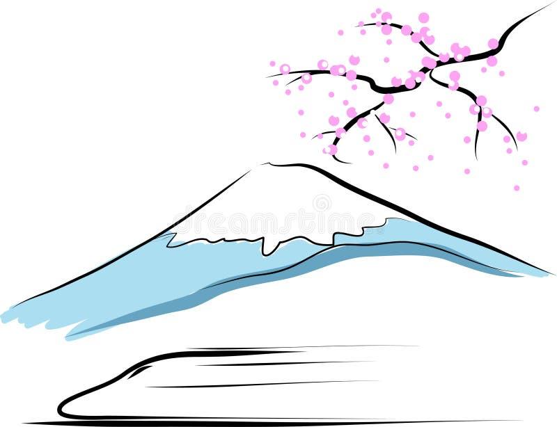 Der Fujisan lizenzfreie abbildung