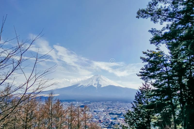 Der Fujisan sah an stockfotos