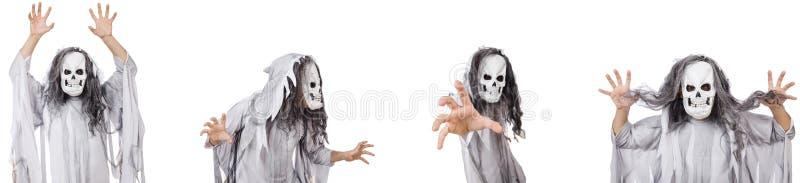 Der furchtsame Mann in Halloween-Konzept lizenzfreies stockfoto
