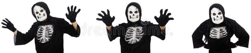 Der furchtsame Mann in Halloween-Konzept stockbilder