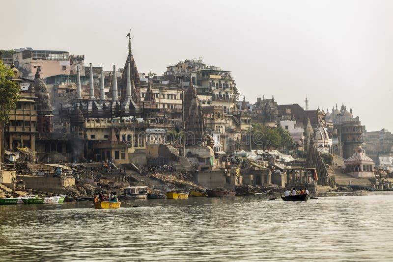 Der Ganges und Varanasi, Indien stockfoto