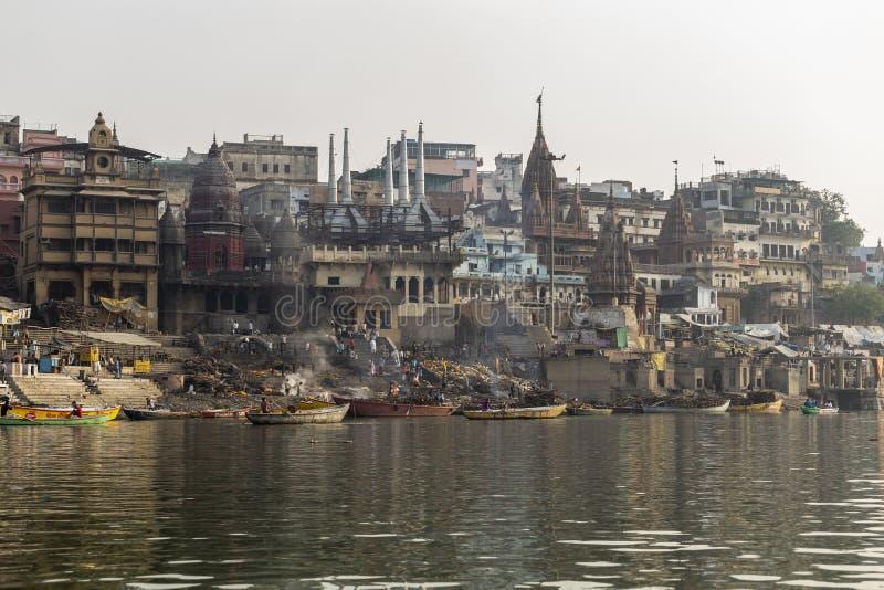 Der Ganges und Varanasi, Indien stockfotos