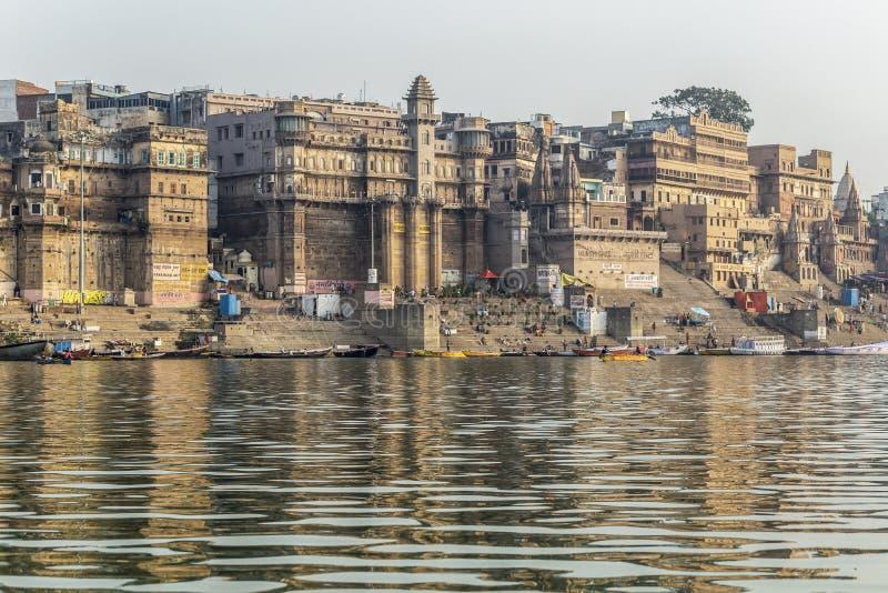 Der Ganges und Varanasi, Indien lizenzfreie stockfotos