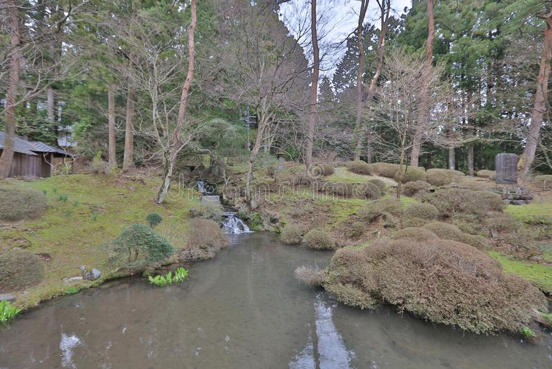 der Garten bei Sanbutsu tun Tempel lizenzfreie stockfotos