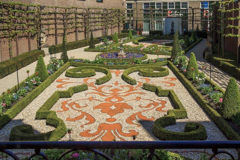 Der Garten des Museums Willet-Holthuysen stockbild