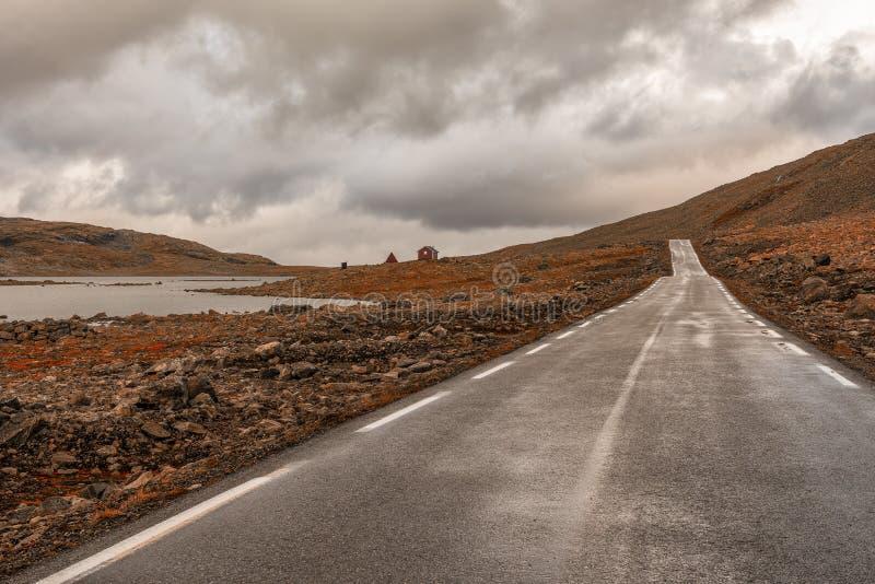 Der Gebirgspass über Sognefjellet, Norwegen lizenzfreies stockfoto