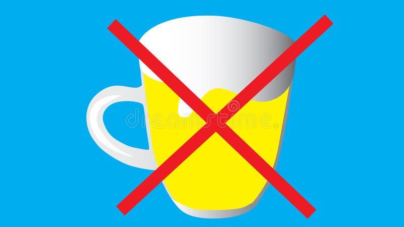 Der Gebrauch von Bier und Geist wird verboten Strikethrough-Becheresprit stock abbildung